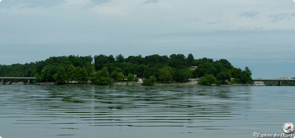 Twin Bridges Area At Grand Lake State Park Of Oklahoma